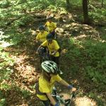 kids bike across gully
