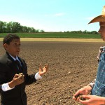 boy explains to farm girl