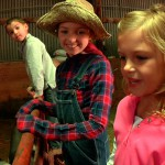 kids in farm