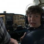 kid pilots plane