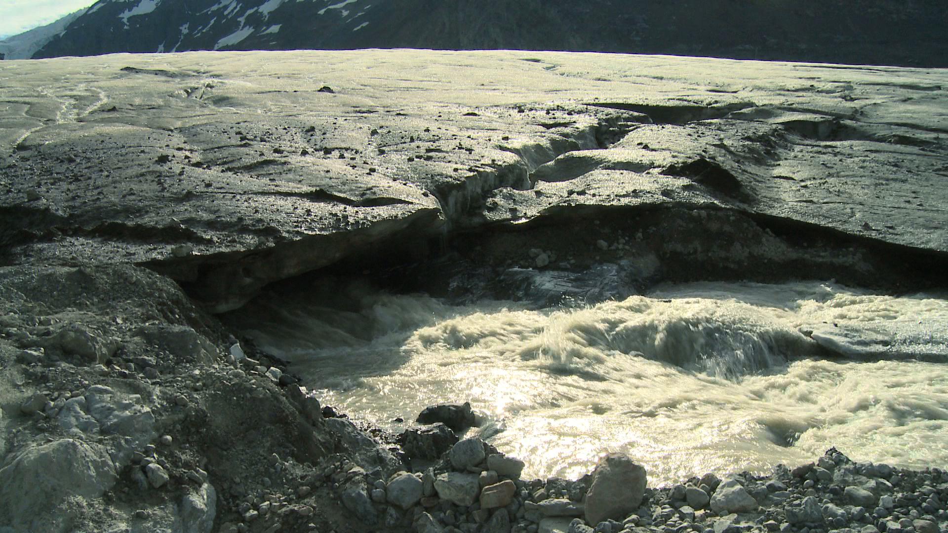 Continental Glacier Water from glacier