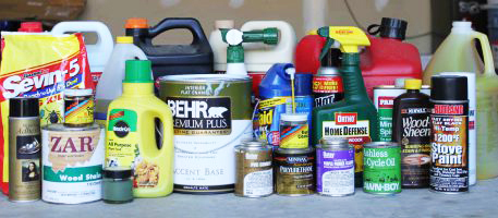 household hazardous waste into the outdoors