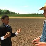 boy explains to farm girl