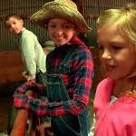kids in farm