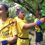 kids begin their archery tests