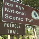 sign Pothole trail